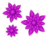 Vector purple flowers — Stock Vector