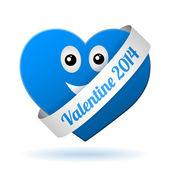 Vector boy valentine heart — Stock Vector