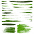 Vector green brush strokes — Stock Vector #39400403