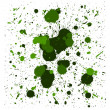 Stock Vector: Vector green brush splatters