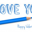 Stock Vector: Vector handwritten valentine greeting