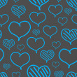 Vector repeated valentine pattern — Vecteur #39400499