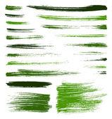 Vector green brush strokes — Stock Vector