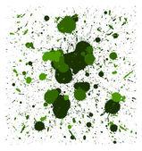 Kartáče vektor zelené stříkance — Stock vektor