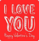 Vector handwritten valentine greeting — Stockvektor