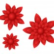 Vector red flowers — Stock Vector