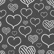 Vector repeated valentine pattern — Vecteur #39956819