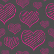 Vector repeated valentine pattern — Vecteur #39956849