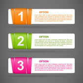 Vector color paper option labels — Stock Vector