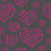 Vector repeated valentine pattern — Stock Vector