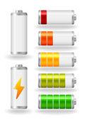 Vector glossy battery fullness indicator — Stock Vector