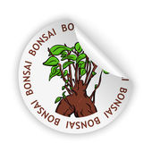 Vector bonsai bent sticker — Vettoriale Stock