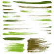 Stock Vector: Vector camouflage brush splatters