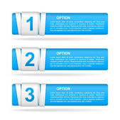Vector blue paper option labels — Wektor stockowy