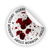 Vector horror story bent sticker — Stock Vector