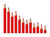 Vector decreasing chart — Stock Vector