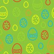 Vector repeated easter pattern — Stock Vector