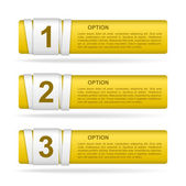 Vector yellow paper option labels — Stock Vector