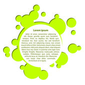 Vector green rounded abstract bubble frame — Stock Vector