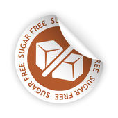 Vector sugar free bent sticker — Stock Vector