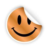 Vector smile bent sticker — Vector de stock