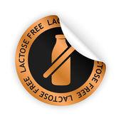 Vector lactose free bent sticker — Stock Vector