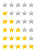 Vector rating stars — Stock Vector
