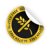 Vector gluten free bent sticker — Stock Vector