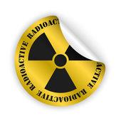 Vector radioactive bent sticker — Stock Vector