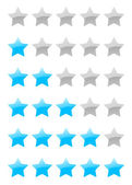 Vector rating stars — Stockvektor