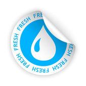 Vector fresh product bent sticker — Stockvektor