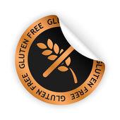 Vector gluten free bent sticker — Stockvektor
