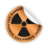 Vector radioactive bent sticker — Stockvektor