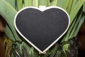 Heart Shaped Chalkboard — Stock Photo