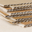 Stock Photo: Corrugated cardboard