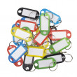 Plastic key tags — Foto Stock