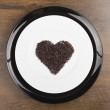 Heart made of chocolate sprinkles — Stock Photo