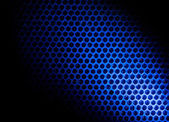 Bubble wrap lit by blue light — 图库照片