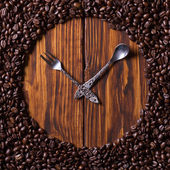 Watches made of coffee — Stock Photo