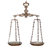 Antique rusty weighing scale — Stock Photo