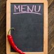 Chalk board menu — Stock Photo
