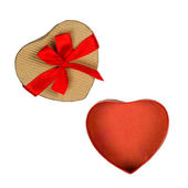 Heart shaped carton box — Stock Photo