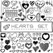 Set of hearts and arrows — Stock Vector #40961353
