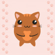 Cute kawaii kitty — Stock Vector #40961381