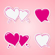 Heart shaped bubbles set — Stock Vector