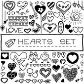 Set of hearts and arrows — Stock Vector
