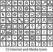 Internet and Media user icons — Stock Vector