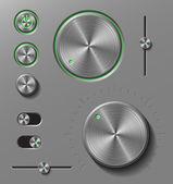 Boutons en métal foncé — Vecteur