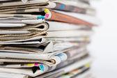Pila di giornali — Foto Stock