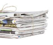 Pilha de jornais — Fotografia Stock